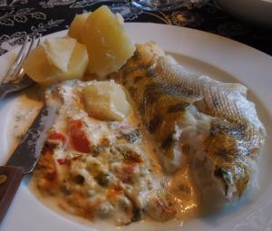 Served simply with some boiled potatoes.. delicious!!